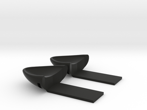 Cat Ears for SmartPhone in Black Natural Versatile Plastic