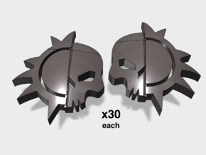60x Dusk Raiders: Left & Right Shoulder Insignias in Smoothest Fine Detail Plastic