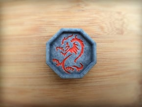 Dragon Talisman in Full Color Sandstone
