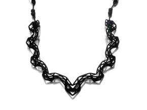 FutureChique Necklace V2 in Black Natural Versatile Plastic
