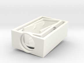 3dprint helixflexure gimbal in White Processed Versatile Plastic