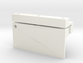 2axis Flexure 1x3cm mountb in White Processed Versatile Plastic