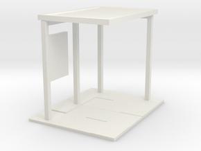 28mm bus shelter base in White Natural Versatile Plastic