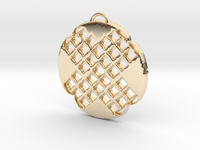 X Art-1 in 14k Gold Plated Brass