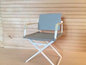 1:12 Chair Director in White Processed Versatile Plastic