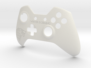 """Xbox One """"Winter is Coming"""" Controller Faceplate in White Natural Versatile Plastic"""