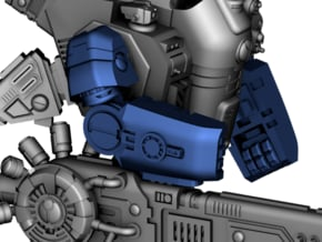 Stormwave - Arms for One Handed Weapon in Smooth Fine Detail Plastic: d3