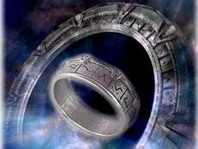 Stargate Ring in Polished Nickel Steel: 10 / 61.5