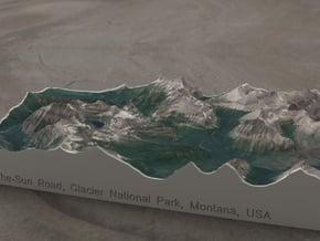 Glacier NP, Montana, USA, 1:100000 Explorer in Full Color Sandstone