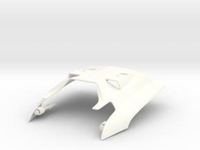 045021-00 Ampro Super Fly 2.0 Rear Body in White Processed Versatile Plastic