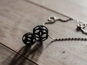 Dodecahedron Interlocked - 2pts in Black Natural Versatile Plastic