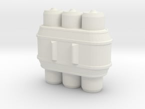 Small Energy Cell in White Natural Versatile Plastic