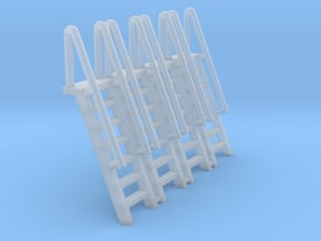 N Scale Ladder 7 (4pc) in Smooth Fine Detail Plastic