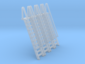 N Scale Ladder 11 (4pc) in Smooth Fine Detail Plastic