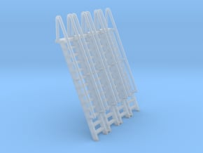 N Scale Ladder 13 (4pc) in Smooth Fine Detail Plastic