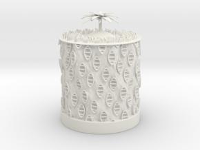 Ocean Bloom zoetrope in White Natural Versatile Plastic
