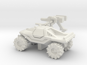 All-Terrain Vehicle closed cab with weapons in White Natural Versatile Plastic