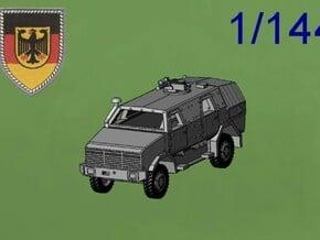 ATF DINGO2 Armored Car  in Green Processed Versatile Plastic: 1:144