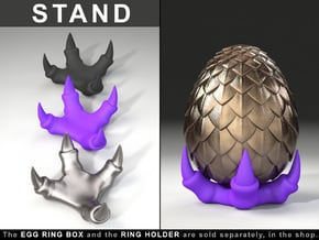 STAND for Dragon Egg Game of Thrones Ring Box in Purple Processed Versatile Plastic
