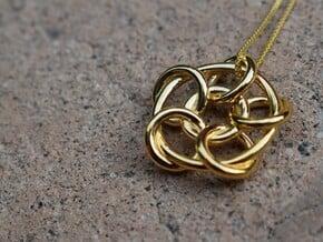 Interlock Pendant in 14k Gold Plated Brass