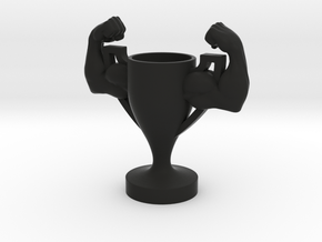 Trophy Arm Strong Muscle in Black Natural Versatile Plastic