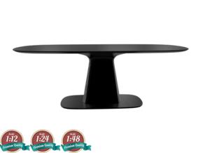 Miniature 8950 Dining Table - Michael Schneider in White Natural Versatile Plastic: 1:24
