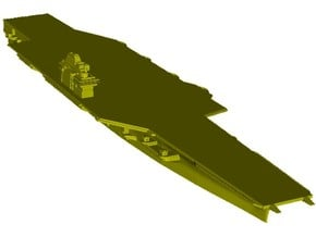 1/3000 scale USS Forrestal CV-59 aircraft carrier in Smooth Fine Detail Plastic