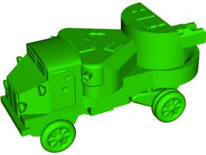 Garford-Putilov Armored Car in White Natural Versatile Plastic: Small