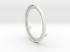 RM30 Einbauring für Stoff - mit Halter in White Natural Versatile Plastic