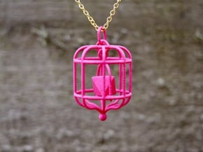 Platonic Birds - Octahedron in Pink Processed Versatile Plastic