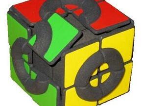 Sliding Cube in White Natural Versatile Plastic