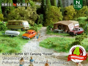 SUPER SET Camping Forest (N 1:160) in Smooth Fine Detail Plastic