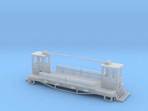 Street Freight Car Z scale in Smooth Fine Detail Plastic