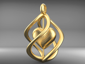 First Love in 14k Gold Plated Brass: Large