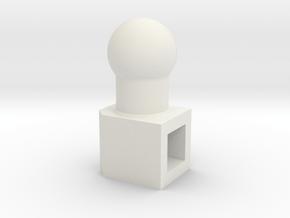 neck adaptor for V brainstorm in White Natural Versatile Plastic