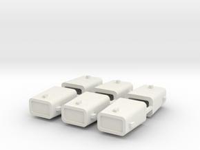 set4797 Stahlkokille 4 Zapfen mit Guß 6erSet 1:120 in White Natural Versatile Plastic