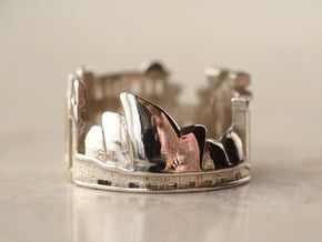 Sydney Ring - City Ring in Polished Silver: 5 / 49