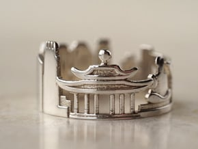 Hong Kong Ring - Unusual Stuff in Polished Silver: 5 / 49