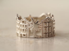 Charleston Cityscape - Band Ring in Polished Silver: 5 / 49