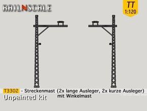 4x Streckenmast (Oberleitung Epoche I - TT 1:120) in Smooth Fine Detail Plastic