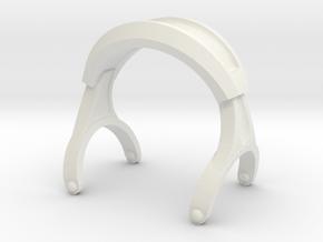 Pocket full headphones -(Main Frame) in White Natural Versatile Plastic