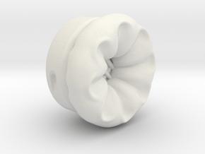 Pocket full headphones -(Headset side) Single one in White Natural Versatile Plastic