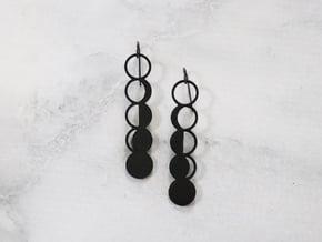 Moon Phase Earrings in Black Natural Versatile Plastic