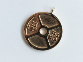 Fitness Weight Necklace in Polished Brass