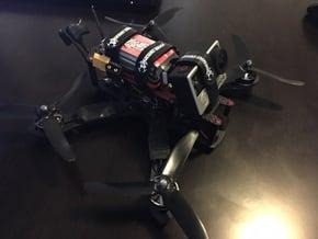 "GoPro 3, 4 ""Minamalist"" 25º Quad/Drone Mount in Black Natural Versatile Plastic"