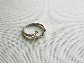 Love Ring in Polished Silver: 7 / 54
