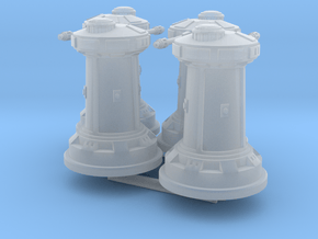 1/270 Rebel DF9 Turrets (4) in Smooth Fine Detail Plastic