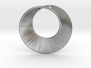 Mini Mobius pierced in Natural Silver