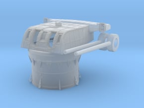 1/200 IJN 20cm 50 3rd Year Type Naval Gun v2 in Smooth Fine Detail Plastic