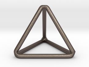 Tetrahedron in Polished Bronzed Silver Steel